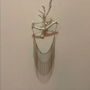 Fringe necklace gold Anthropologie